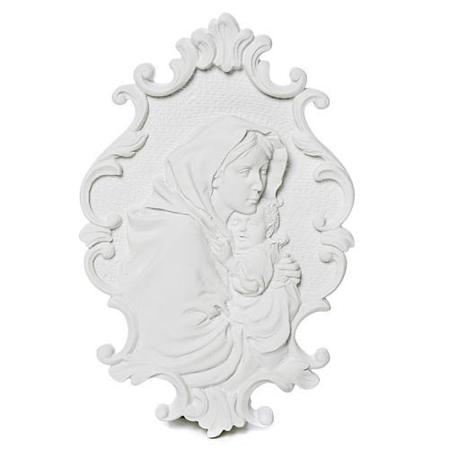 Virgen de la Ferruzi con marco 31cm en relieve 1