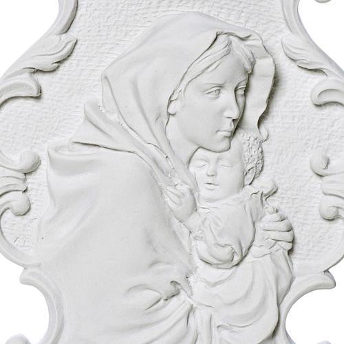 Virgen de la Ferruzi con marco 31cm en relieve 2