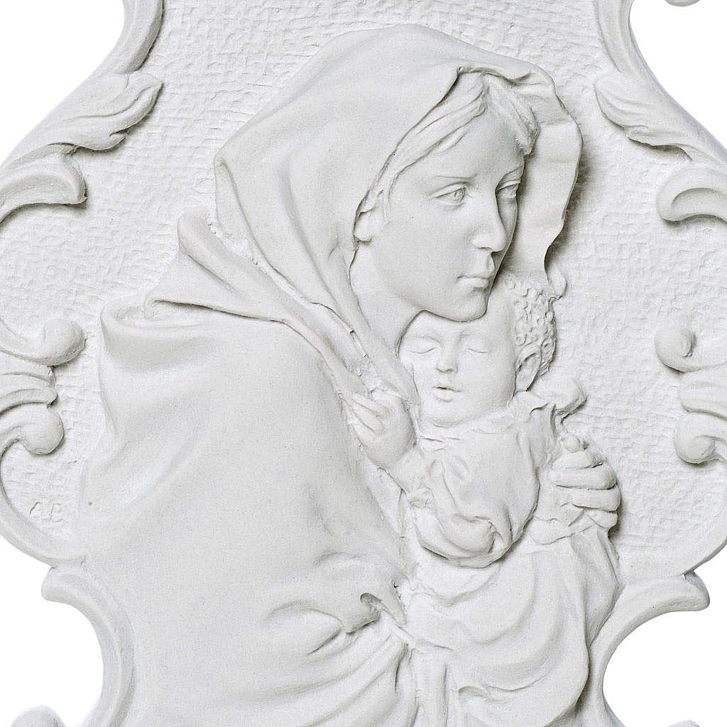 Madonna del Ferruzzi con cornice 31 cm rilievo 3