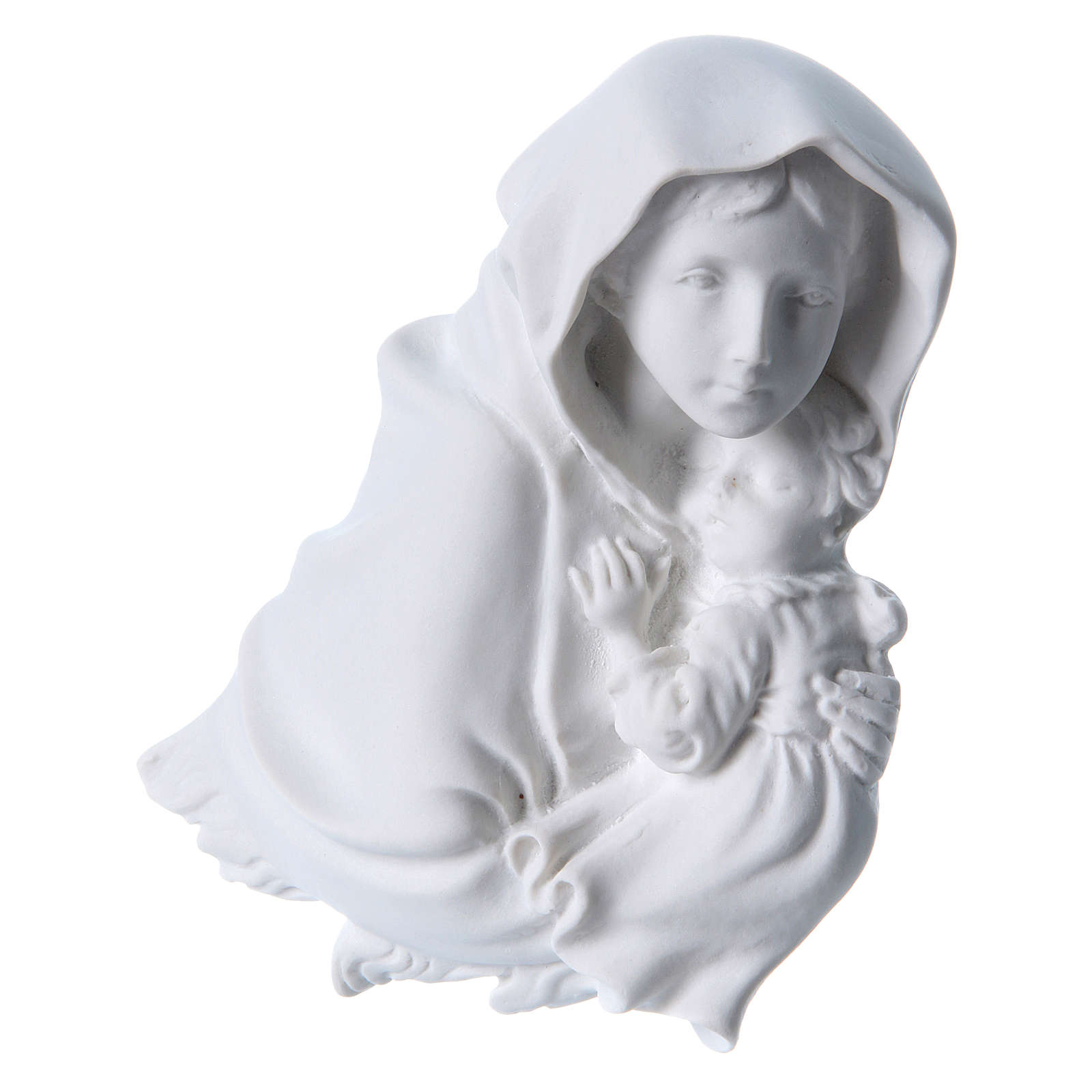 Madonna of Ferruzzi bas-relief in reconstituted marble, 15 cm 3