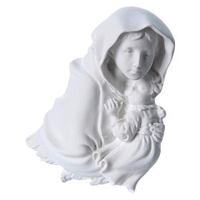 Madonna of Ferruzzi bas-relief in reconstituted marble, 15 cm s2