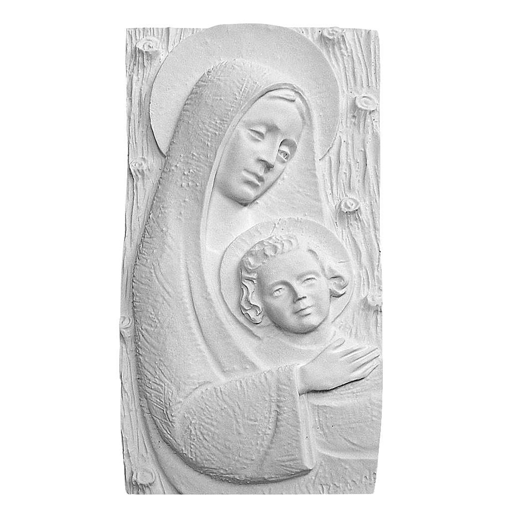 Madonna con bambino cm 31 rilievo 3