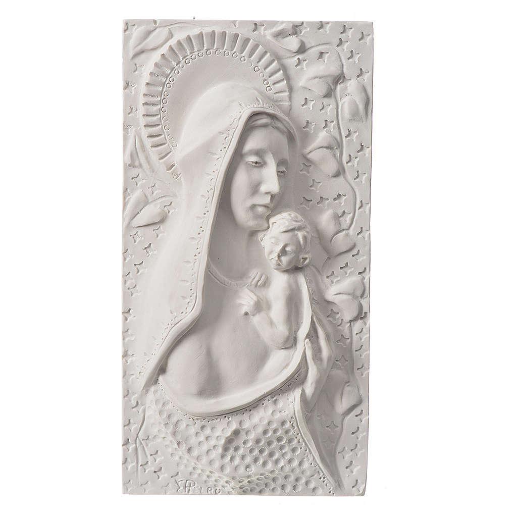 Madonna con bimbo cm 30 rilievo 3