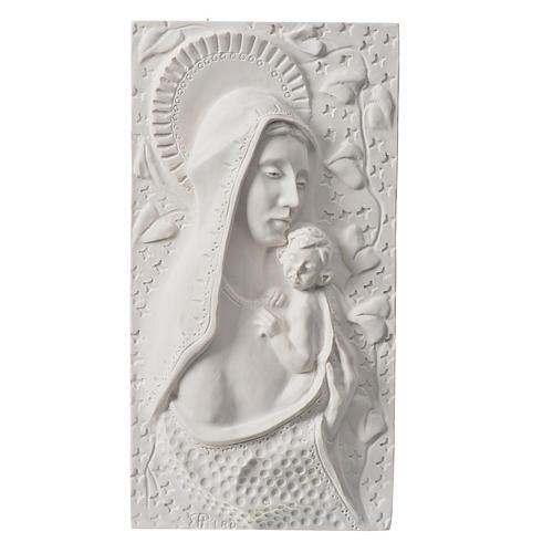 Madonna con bimbo cm 30 rilievo 1