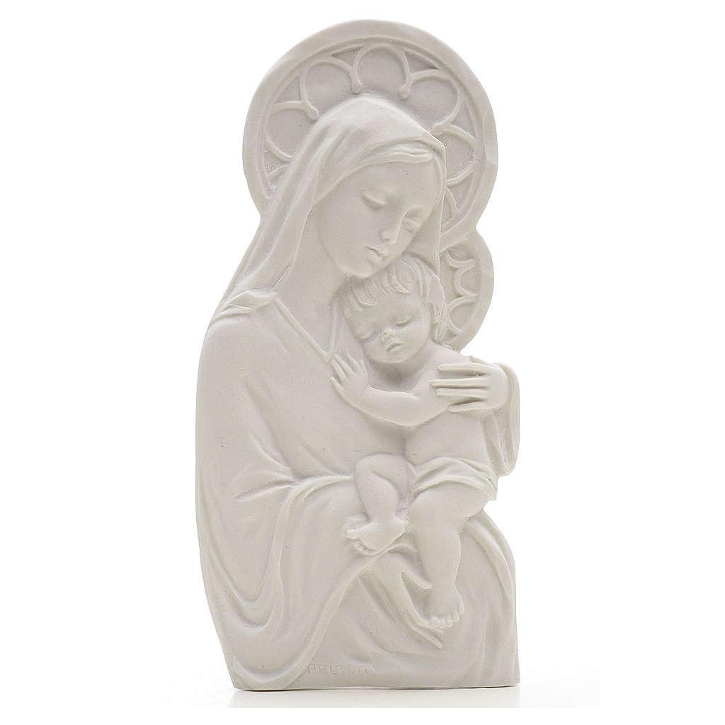 Madonna con bimbo cm 14 rilievo marmo 3