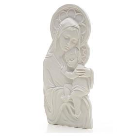 Madonna con bimbo cm 14 rilievo marmo s2