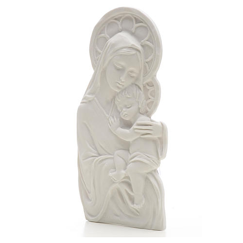 Madonna con bimbo cm 14 rilievo marmo 2