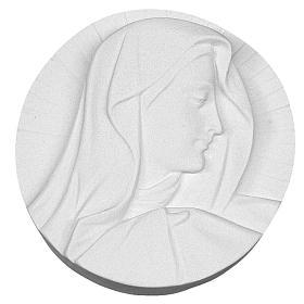 Volto Madonna tondo marmo 14-19 cm s1