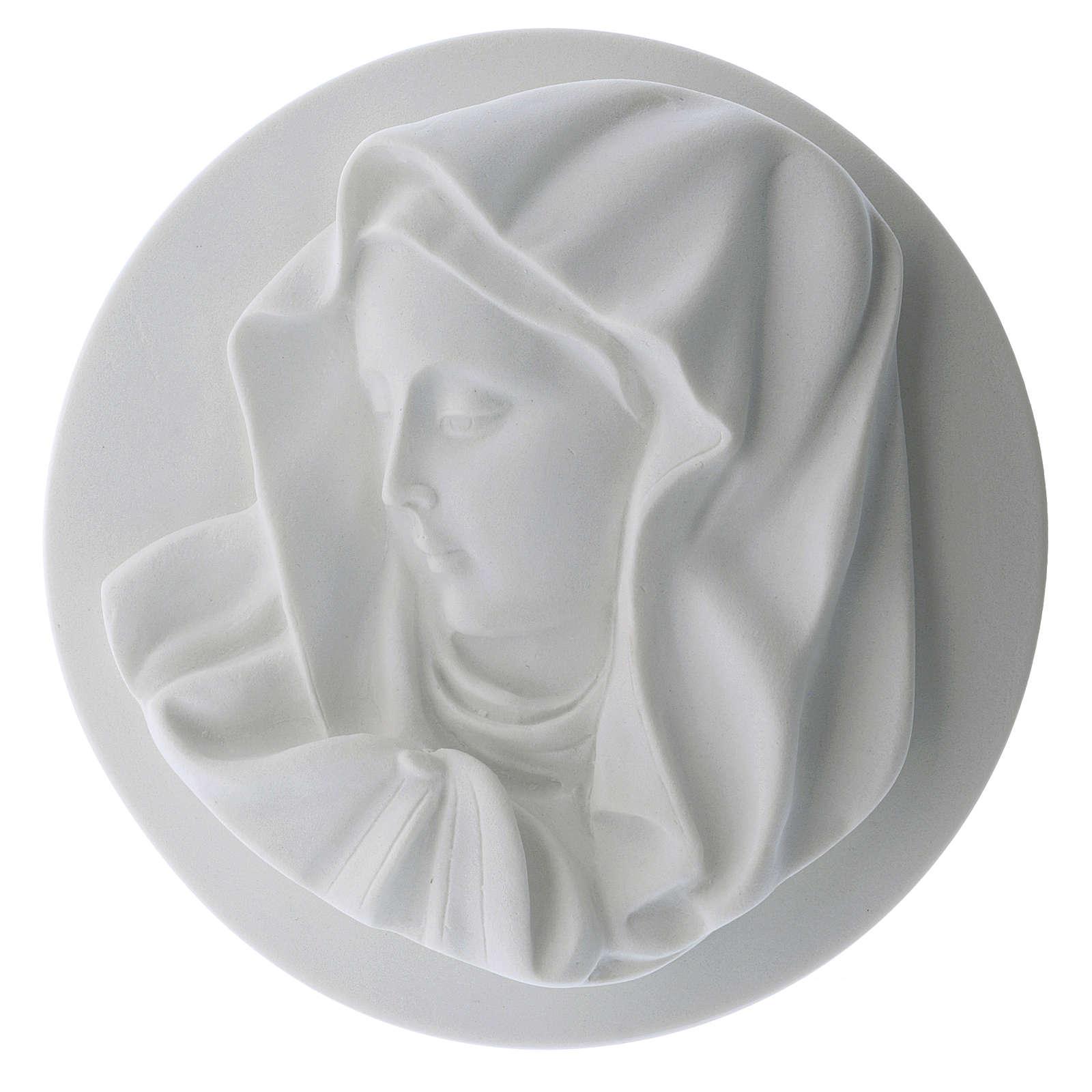 Volto Madonna del dito 14 cm tondo marmo 3