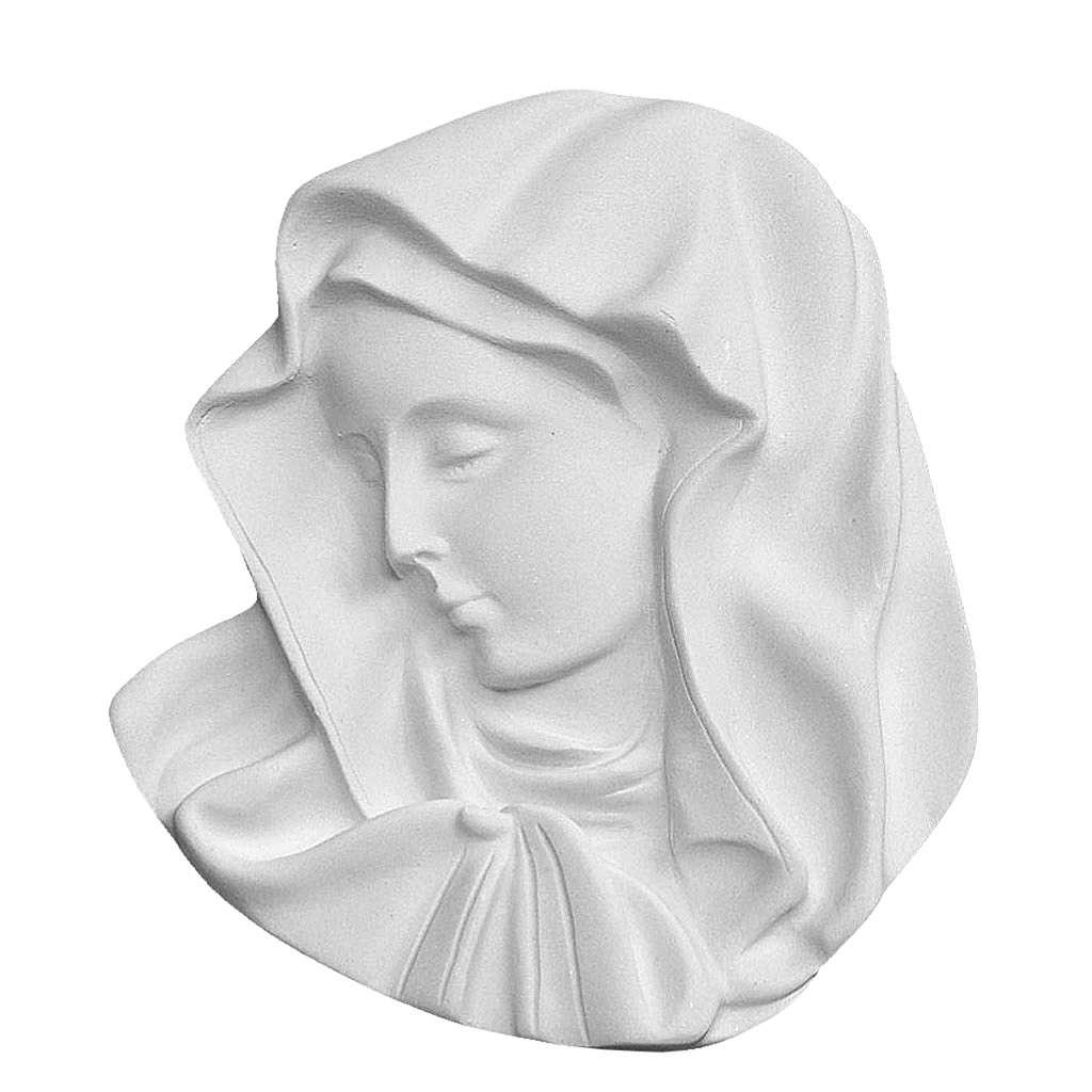Médaillon Notre Dame marbre 17 cm 3