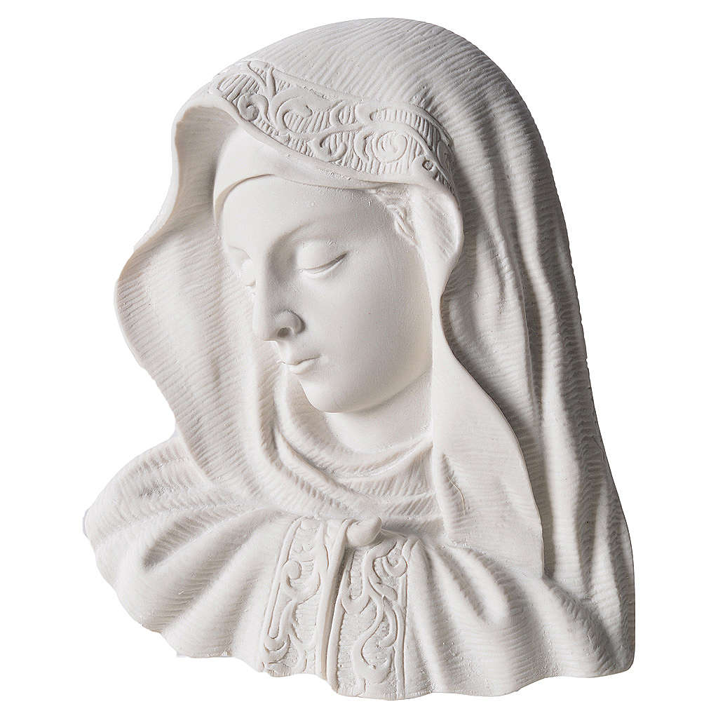 Our Lady of the finger bas-relief in reconstituted marble, 16 cm 3