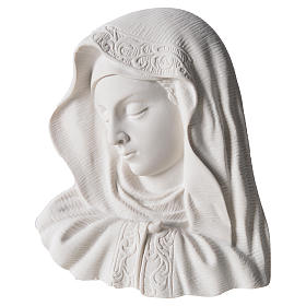 Our Lady of the finger bas-relief in reconstituted marble, 16 cm s1