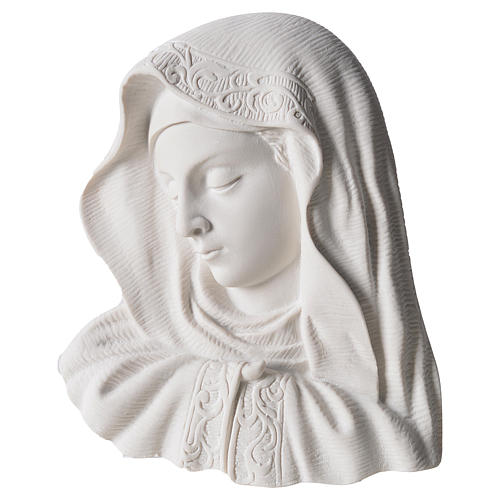 Our Lady of the finger bas-relief in reconstituted marble, 16 cm 1