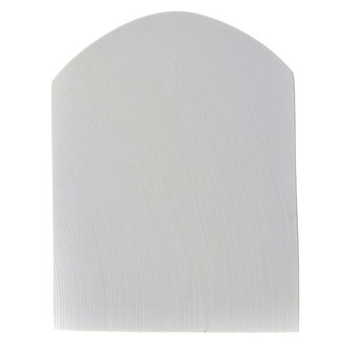 Madonna con croce 22 cm rilievo marmo sintetico 5