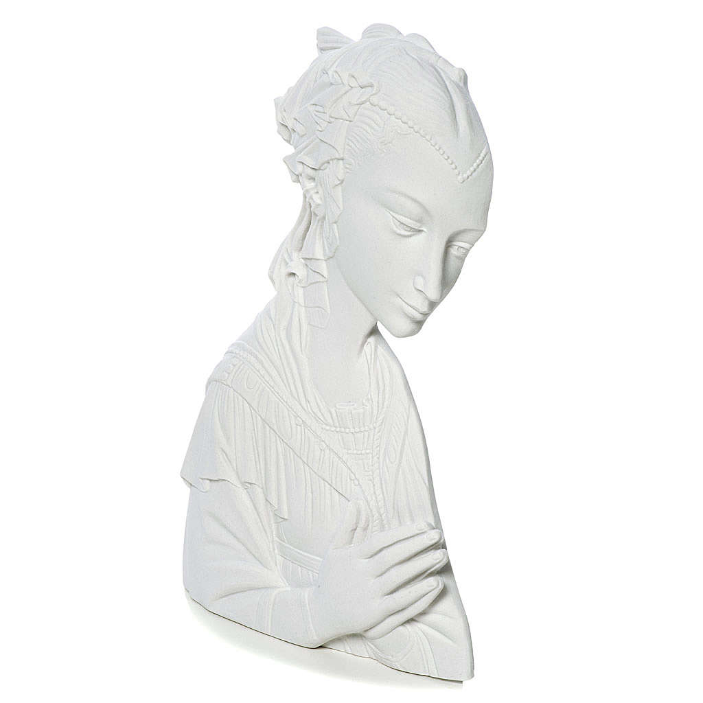 Madonna del Lippi 30 cm rilievo marmo sintetico 3