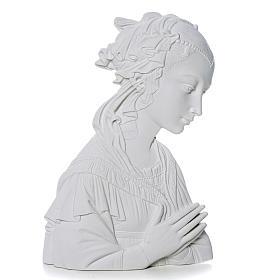 Madonna del Lippi 30 cm rilievo marmo sintetico s1