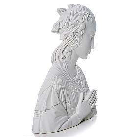Madonna del Lippi 30 cm rilievo marmo sintetico s2