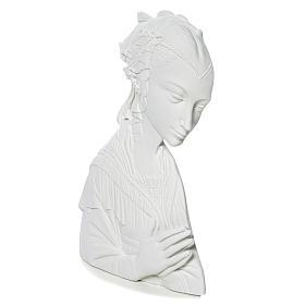 Madonna del Lippi 30 cm rilievo marmo sintetico s3