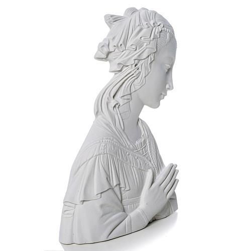 Madonna del Lippi 30 cm rilievo marmo sintetico 2