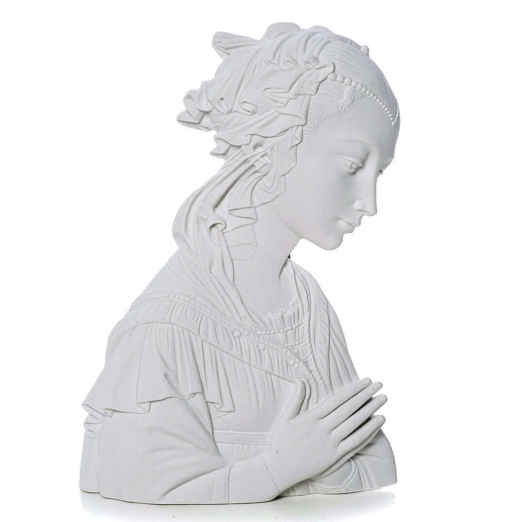 Lippi's Our lady, 30 cm reconstituted carrara marble bas-relief 3