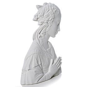 Lippi's Our lady, 30 cm reconstituted carrara marble bas-relief s2