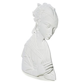 Lippi's Our lady, 30 cm reconstituted carrara marble bas-relief s3