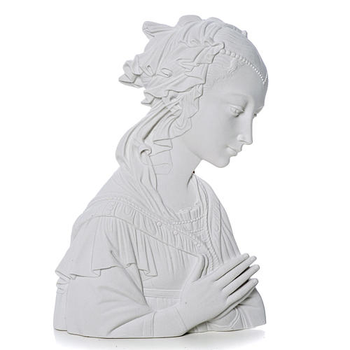 Lippi's Our lady, 30 cm reconstituted carrara marble bas-relief 1