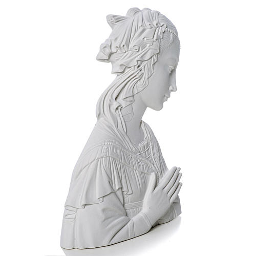 Lippi's Our lady, 30 cm reconstituted carrara marble bas-relief 2