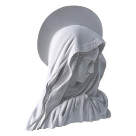 Madonna del dito con aureola 28 cm rilievo marmo s2