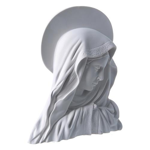 Madonna del dito con aureola 28 cm rilievo marmo 2
