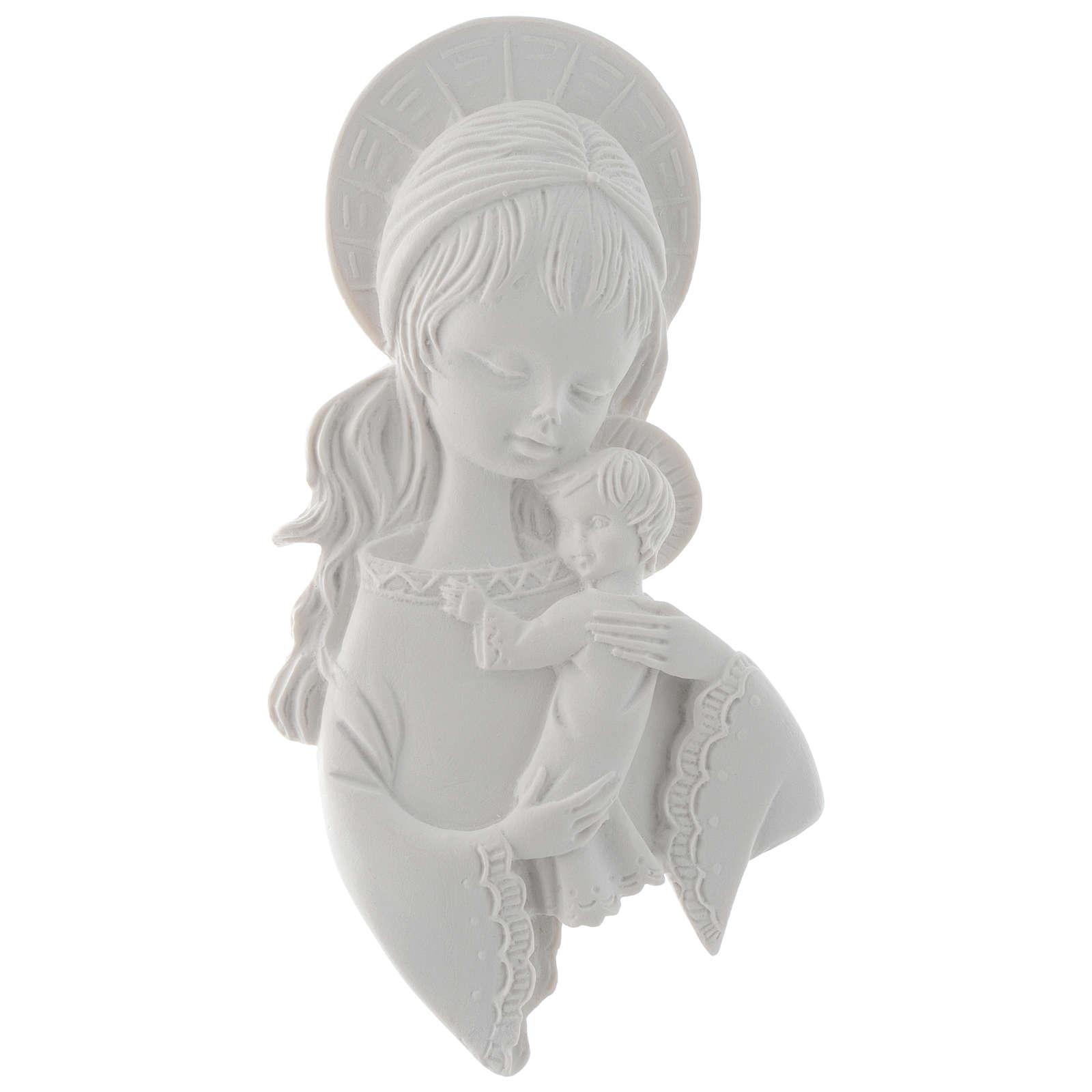 Applique Vierge à l'enfant 15 cm marbre 3
