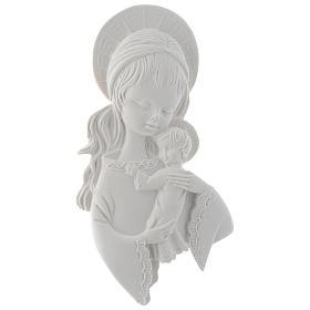 Applique Vierge à l'enfant 15 cm marbre s1