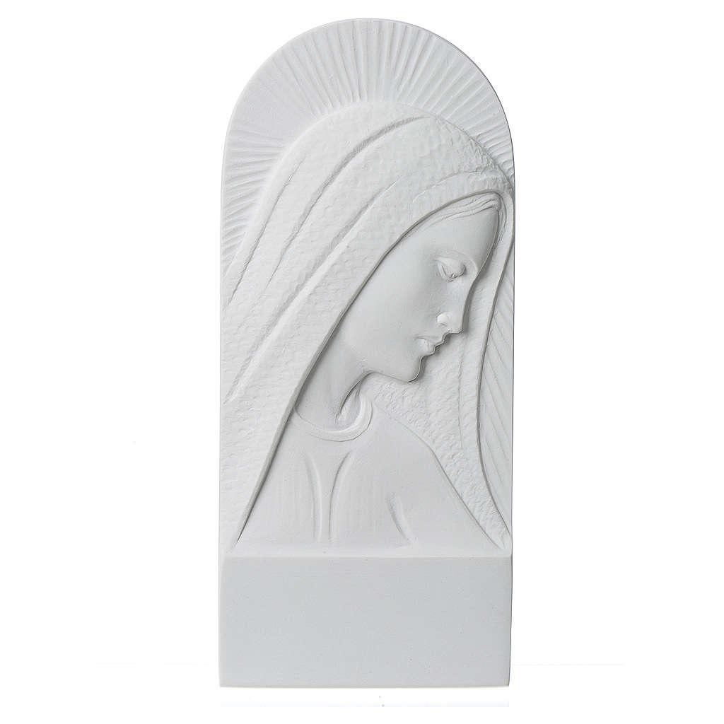 Rostro de María en relieve 11 cm 3