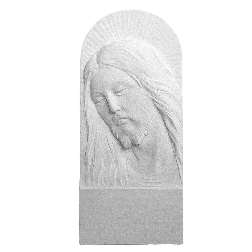 Rostro de Cristo de 26cm mármol blanco 3