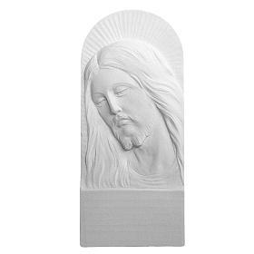 Rostro de Cristo de 26cm mármol blanco s1