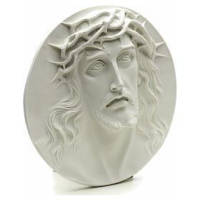 Applique Ecce Homo marbre blanc 15-20-30 cm s2