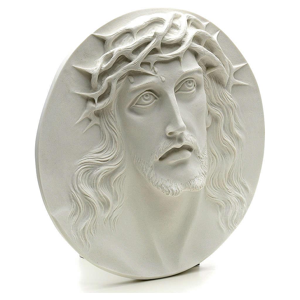 Ecce Homo tondo in rilievo marmo sintetico 15-20-30 cm 3