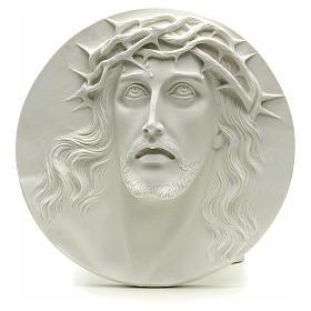 Ecce Homo tondo in rilievo marmo sintetico 15-20-30 cm s1