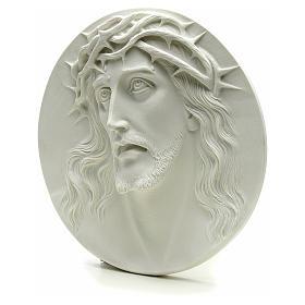 Ecce Homo tondo in rilievo marmo sintetico 15-20-30 cm s3