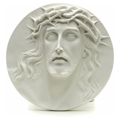 Ecce Homo tondo in rilievo marmo sintetico 15-20-30 cm 1