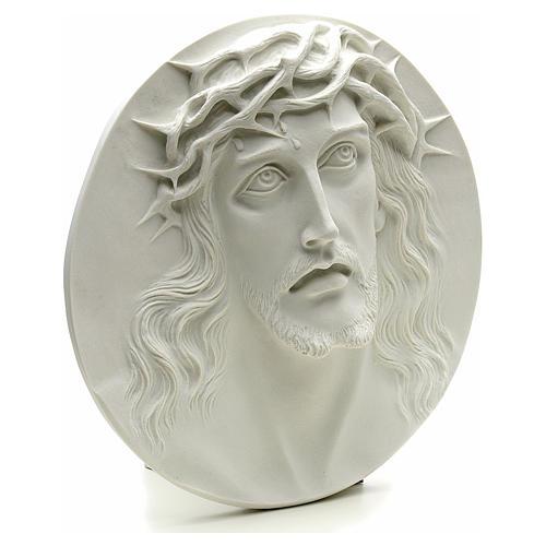 Ecce Homo tondo in rilievo marmo sintetico 15-20-30 cm 2