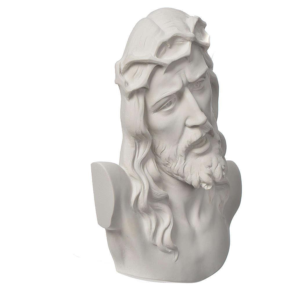 Ecce Homo tondo rilievo marmo bianco 16-20-30 cm 3