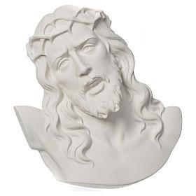 Ecce Homo tondo rilievo marmo bianco 16-20-30 cm s1
