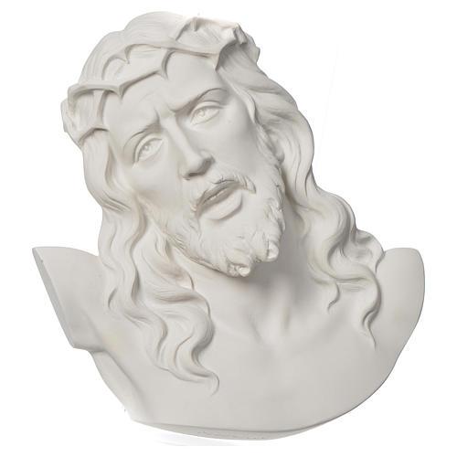 Ecce Homo tondo rilievo marmo bianco 16-20-30 cm 1