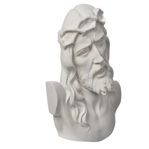 Ecce Homo tondo rilievo marmo bianco 16-20-30 cm 2