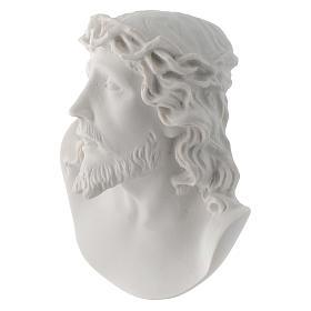 Rostro de Cristo de 10 cm en polvo de mármol de Carrara s3