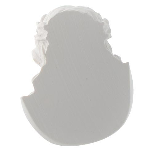 Rostro de Cristo de 10 cm en polvo de mármol de Carrara 4