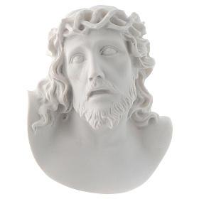 Volto di Cristo cm 10 marmo sintetico s1