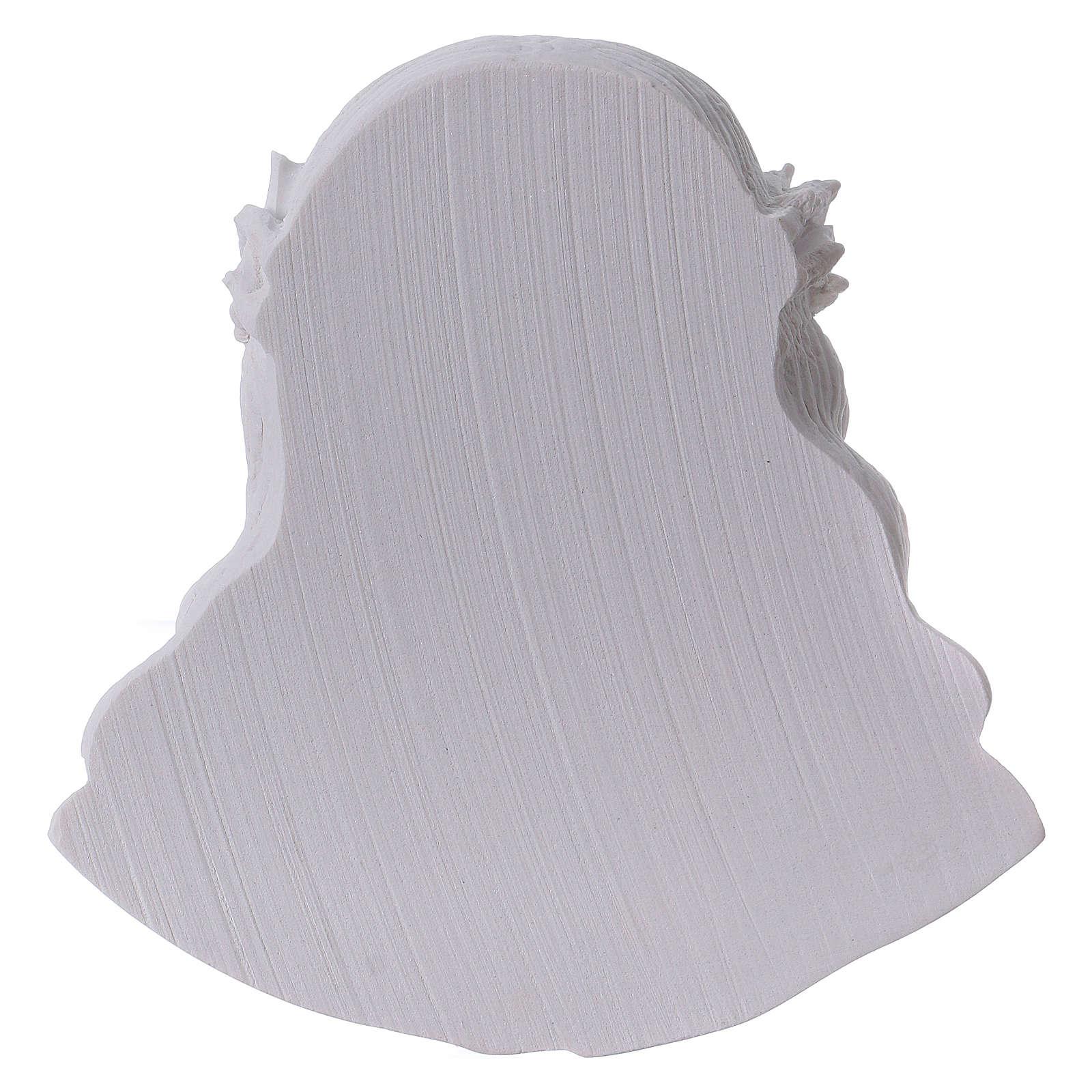 Volto di Cristo cm 14 polvere di marmo 3