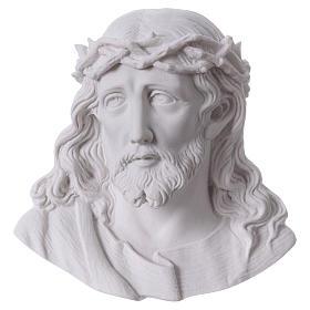 Volto di Cristo cm 14 polvere di marmo s1